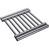 Pro Chef Kitchen Tools Stainless Steel Extendable Trivet - Pot Holder Rack To Protect Tables and Counters From Hot Plates, Oven Pans, Hot Pot Expandable Metal Trivets