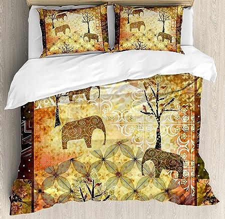 Juego de funda nórdica de cama africana, patrón inspirado en ...