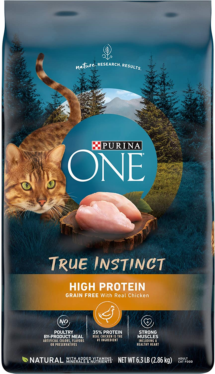 Purina ONE True Instinct Grain Free High Protein, Natural Formula Adult Dry and Wet Cat Food