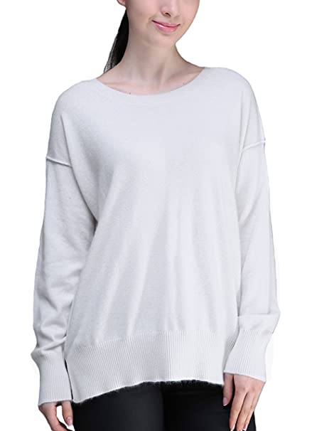 BYLUNTA Women s Long Sleeve Crew Neck Pullover Oversize (Off-White) at  Amazon Women s Clothing store  507d7eb86