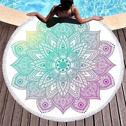 CYYCY La impresión de Toalla de Playa Redonda no se ...