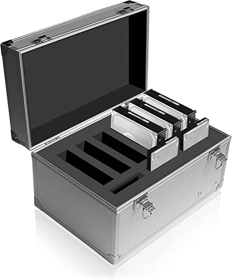 Raidsonic IB-AC626 - Caja para 9 Discos Duros, Plateado: Amazon.es ...