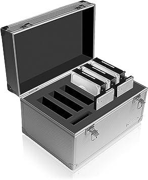 Raidsonic IB-AC626 - Caja para 9 Discos Duros, Plateado: Amazon.es: Electrónica