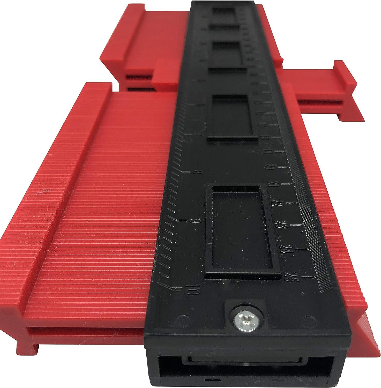 260mm Konturmesser Vervielf/ältigungslehre Laminat Duplikator Wickelrohre Holz Markierungswerkzeug Profil Kopierer mit Skala Konturenlehre Konturmessger/ät f/ür pr/äzise Messung