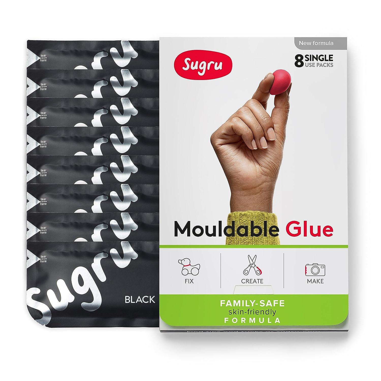 Sugru pasta adesiva modellabile - Formula per tutta la famiglia - Bianco e nero (8 confezioni monodose) FormFormForm Ltd I000447