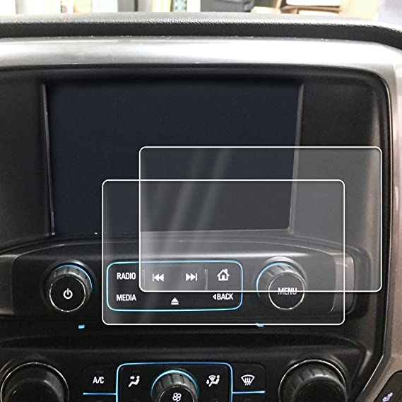 Compatible with 2014-2018 1500 GMC Sierra Intellink Chevy Silverado MyLink  Screen Savers 2pc Custom Fit Invisible High Clarity Touch Display Protector