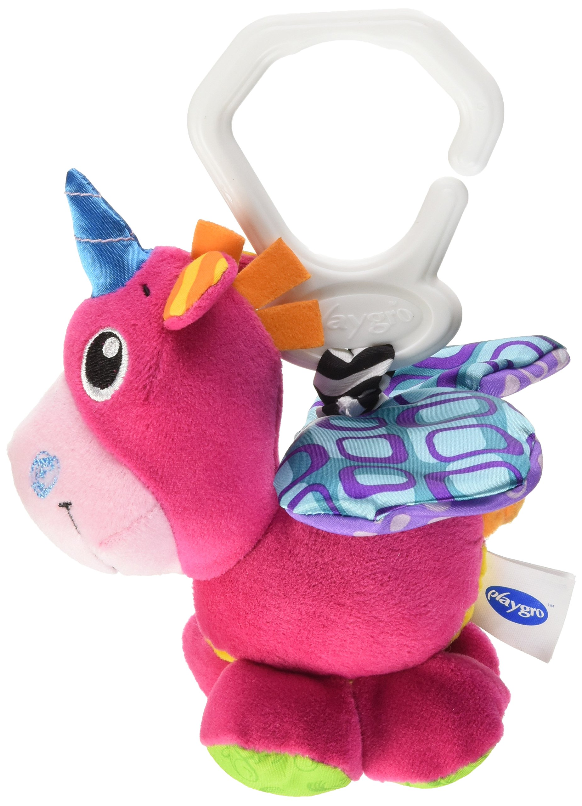 Playgro 0183049 Baby Pull Toy, Flapping Wings Groovy Mover Unicorn
