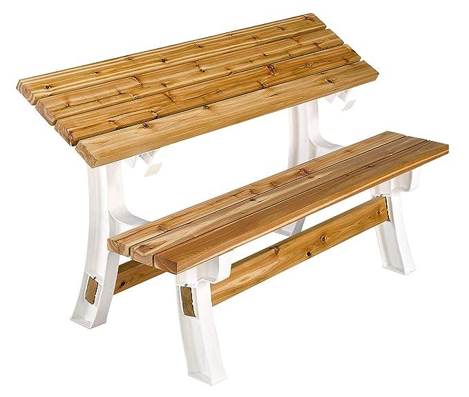 Amazon.com: Banquillo con mesa plegable en la parte superior ...