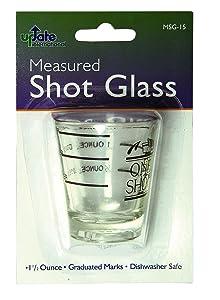 Update International MSG-15 Measuring Shot Glass, 1.5oz, Glass