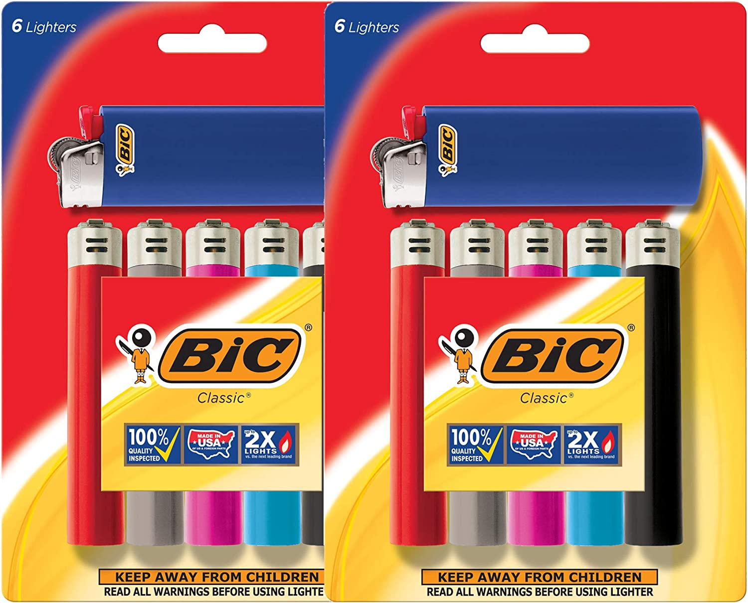 BIC Lighter Classic, Full Size 12 Pieces, Bulk Packaging: Health & Personal Care