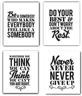 Amazoncom Motivational Inspirational Quotes Art Prints 4 Pack