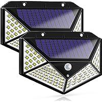 Zonne-verlichting Buiten, Zonne-energie Bewegingssensor Beveiligingsverlichting 100 LED's Waterdichte buitenwandlamp…