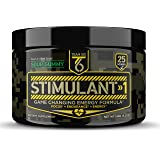 T6 Stimulant-1 Pre Workout Powder – World's Strongest Energy Drink Mix, Nootropic Fat Burner & Focus Supplement for Men & Women w/ Taurine & Teacrine, 25sv