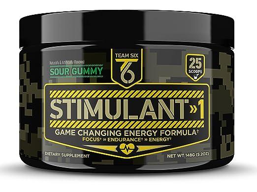 T6 Stimulant-1 Pre Workout Powder – World's Strongest Energy Drink Mix, Nootropic Fat Burner & Focus Supplement for Men & Women w/ Taurine & Teacrine, 25sv