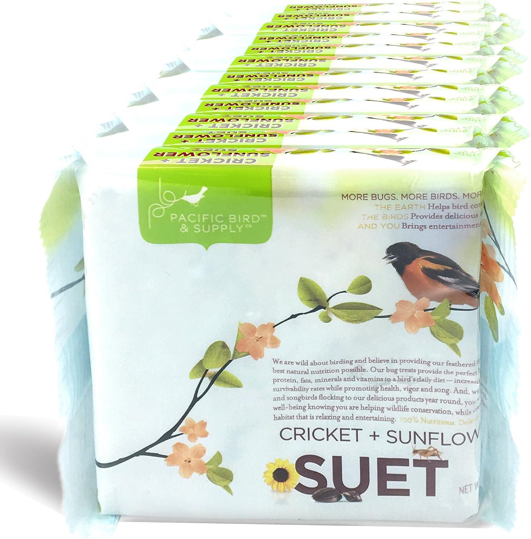 Pacific Bird & Supply Co Cricket + Sunflower Suet Cakes PB-0030 (Case of 12)