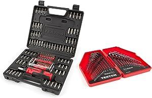 TEKTON 2841 Everybit (TM) Ratchet Screwdriver, Electronic Repair Kit and Security Bit Set with TEKTON 25253 Hex Key Wrench Set