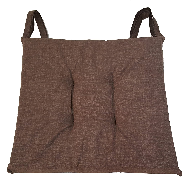 Cuscino sedia Marrone, trapuntati al centro 40x40 spessore 5 cm, copri sedia cucina, Euronovità Euronovità Srl