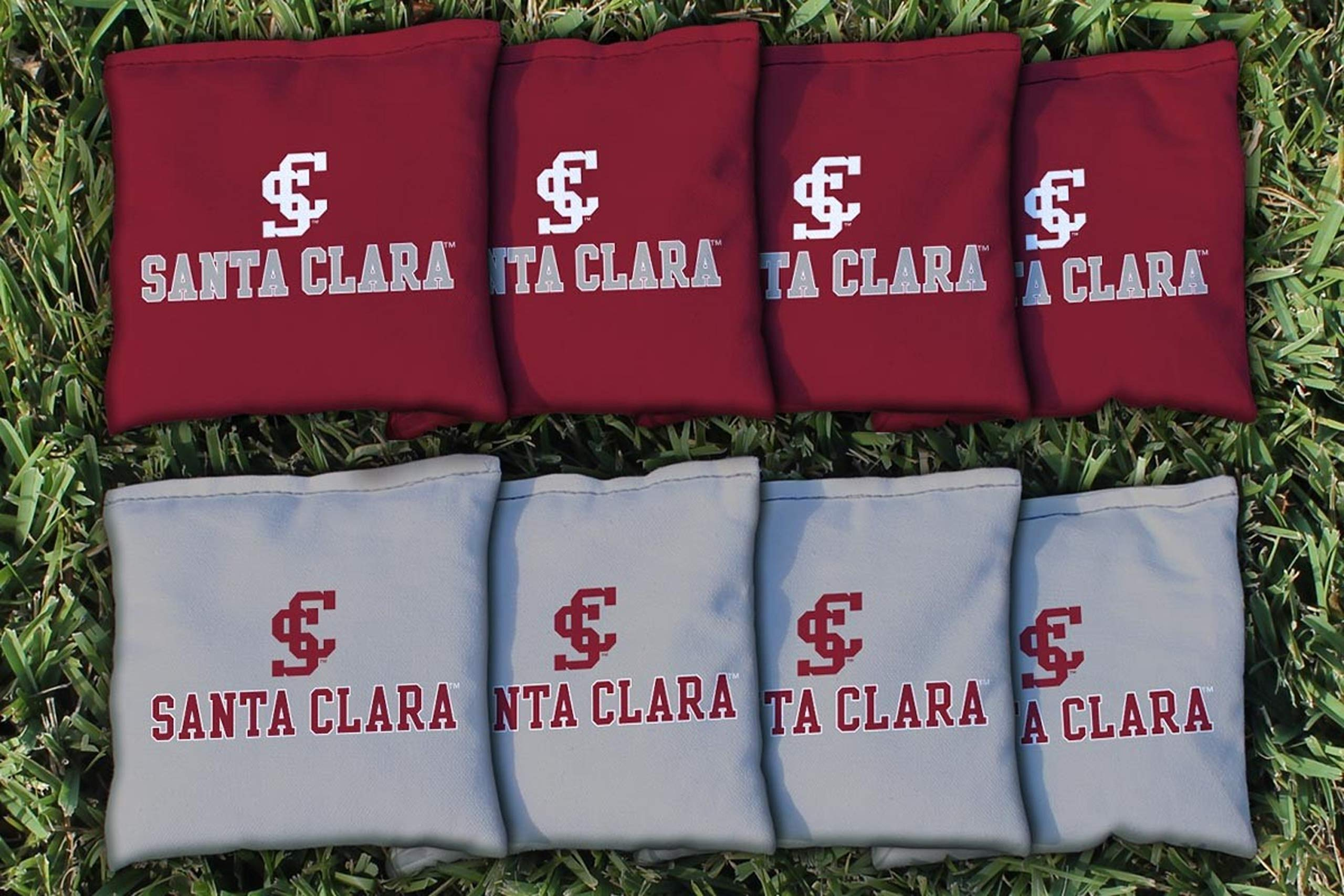 Victory Tailgate NCAA Collegiate Regulation Cornhole Game Bag Set (8 Bags Included, Corn-Filled) - Santa Clara Broncos by Victory Tailgate