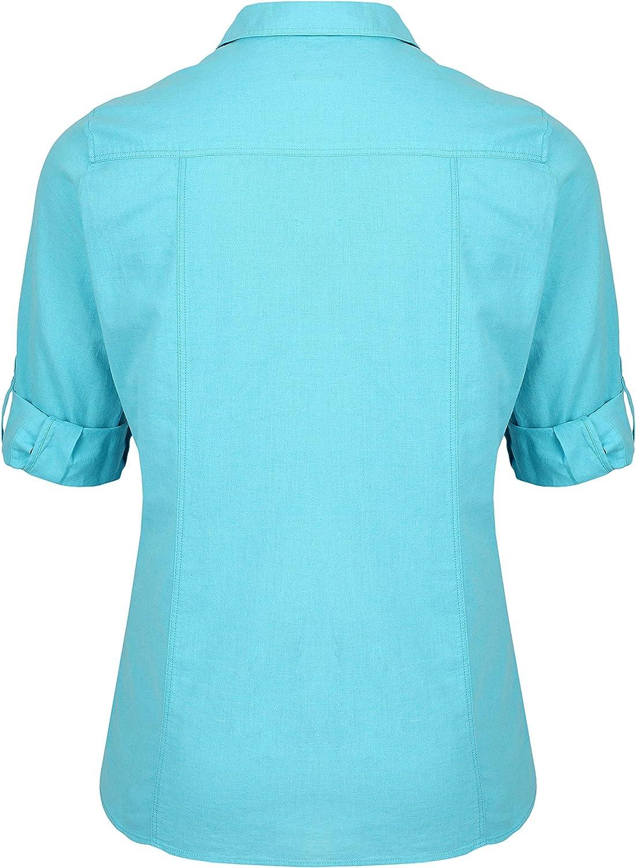 Via Appia Due Women's Classic Plain Shirt Blouse Turquoise