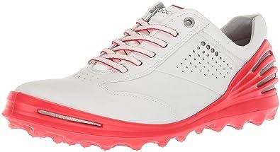 e10154fec281d ECCO Men's Cage PRO Golf Shoe, White/Scarlet, 39 M EU (5
