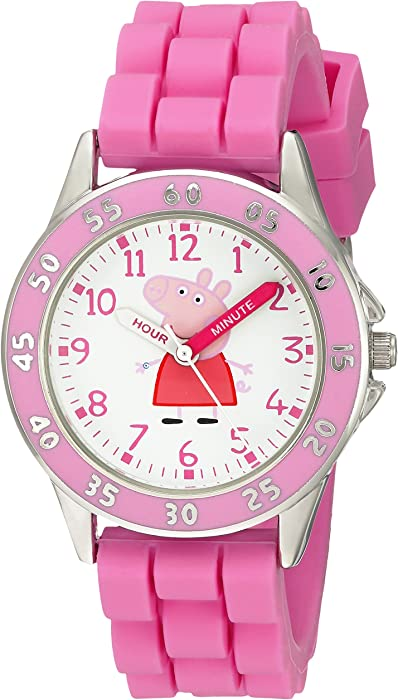 Amazon.com: Peppa Pig Kids PPG9000 Analog Display Japanese Quartz Pink Watch: Watches