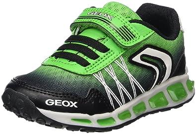 Geox Jungen J Shuttle Boy B Sneaker, Schwarz (BlackGreen