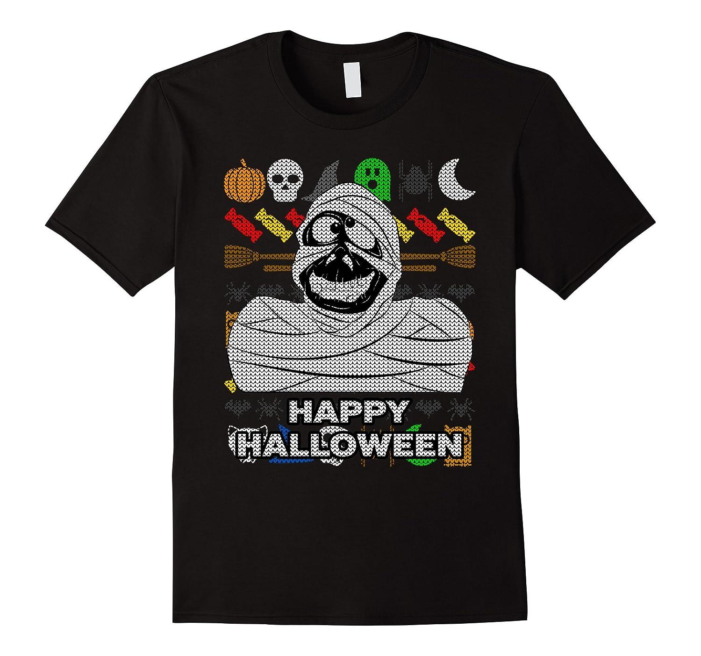 Mummy Ugly Halloween T-shirt - Happy Halloween