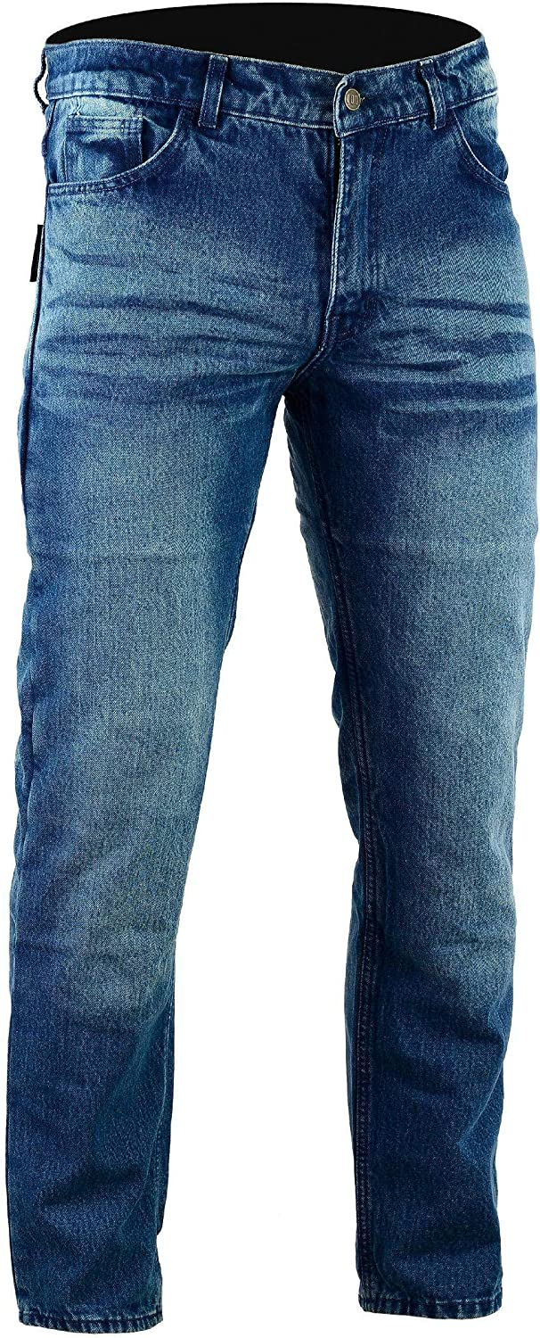 Stone Wash Denim Size 40R Bikers Gear Australia Kevlar Lined Protective Classic Motorcycle Jeans with CE 1621-1 Removable Armour