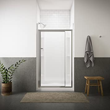 Sterling 1500d 42s Vista Pivot Ii Shower Door Silver With Pebbled