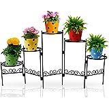 TrustBasket Heavy Gauge 5 Folding Flower Pot Stand