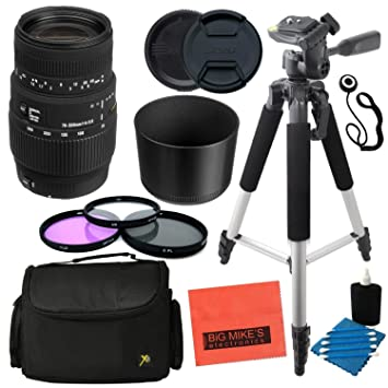 Sigma 70 - 300 mm f/4 - 5,6 DG Macro teleobjetivo Zoom para Canon ...
