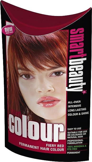 Smart color permanente tinte de pelo color rojo: Amazon.es ...