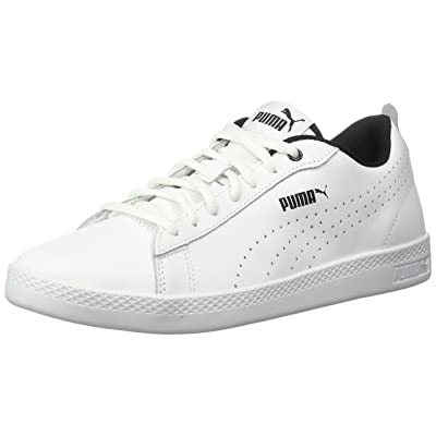 PUMA Women's Smash WNS v2 Leather Perf Sneaker | Fashion Sneakers