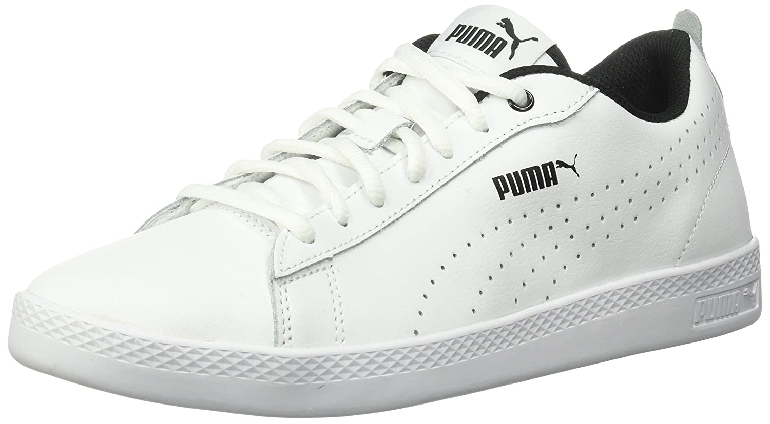 PUMA Women's Smash WNS v2 Leather Perf Sneaker B071K7RBV7 5.5 B(M) US|Puma White-puma White