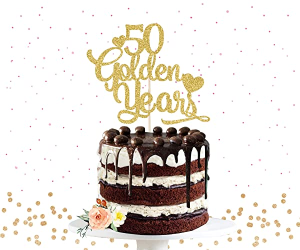 50th Anniversary Cake Topper Golden Years Cake Topper Anniversary