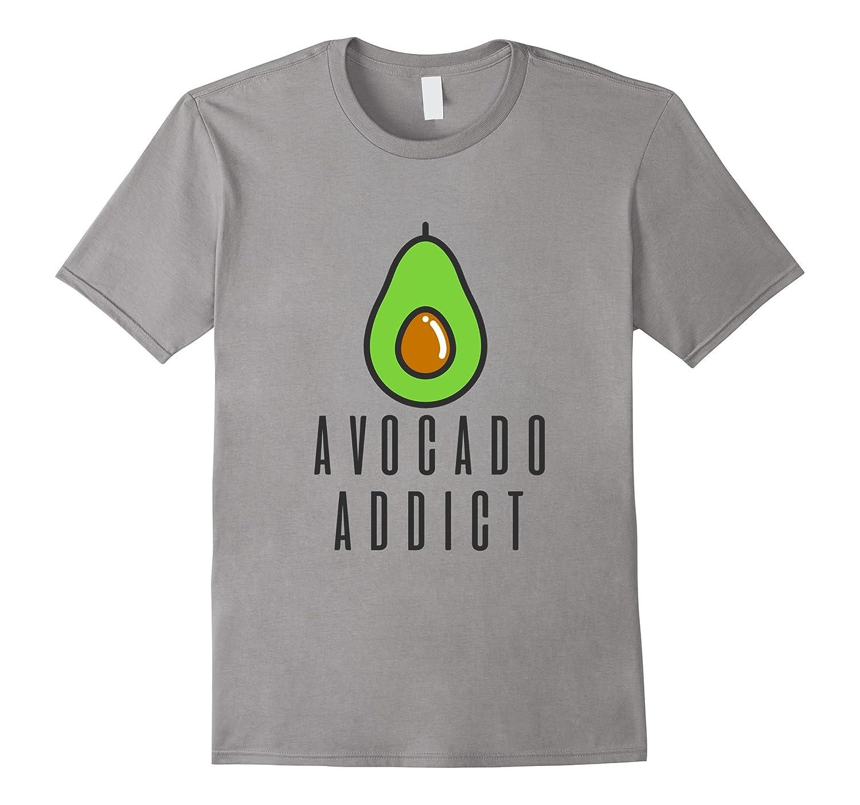 Avocado Addict Cute T-shirt Vegan Foodie Tee-Rose