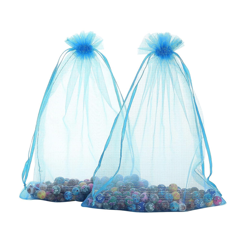 Amazon.com: Anleolife 60PCS Sheer Large Organza Bags 6x9 Wedding ...