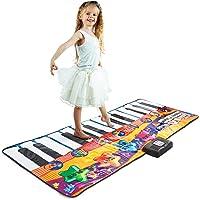 "Joyin Toy 71"" Gigantic Keyboard Playmat Piano Play Mat Kids Electronic Music Playmat Colorful Dance Mat-24 Keys with Record, Playback, Demo, Play, Adjustable Vol. Mode"