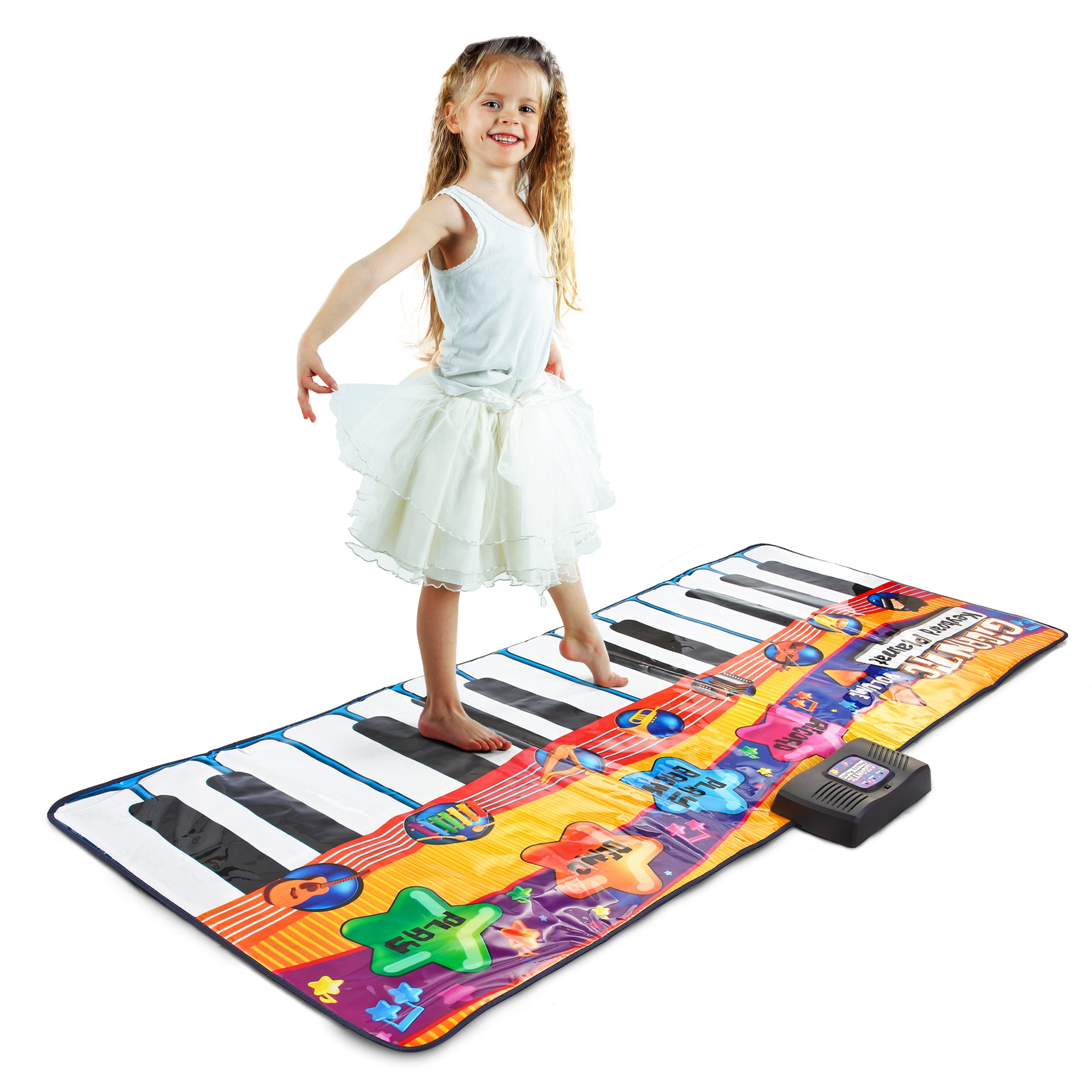 Joyin Toy 71'' Gigantic Keyboard Playmat Piano Play Mat Kids Electronic Music Playmat Colorful Dance Mat-24 Keys with Record, Playback, Demo, Play, Adjustable Vol. Mode