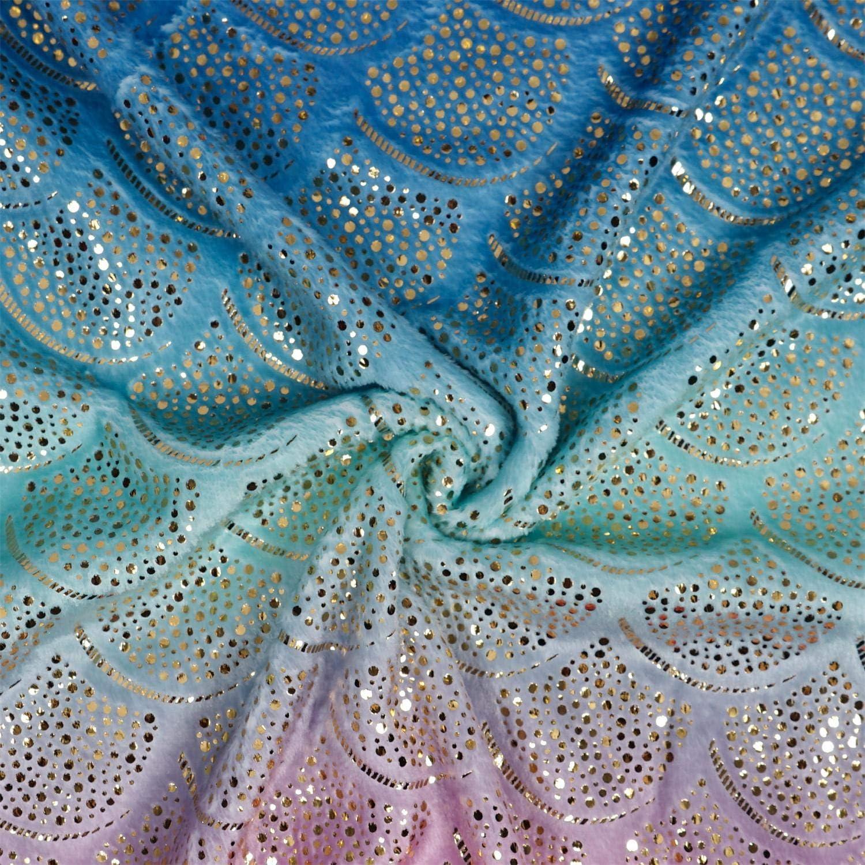 Viviland Coperta per Sirena per Adolescenti e Ragazze Regali di Natale per Ragazze Sacco a Pelo per Sirena in Flanella Arcobaleno Super Morbido Regali di Compleanno 48x130cm