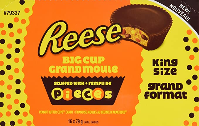 Reese Pieces Chocolate Candy Peanut Butter Cups King Size 16 Count