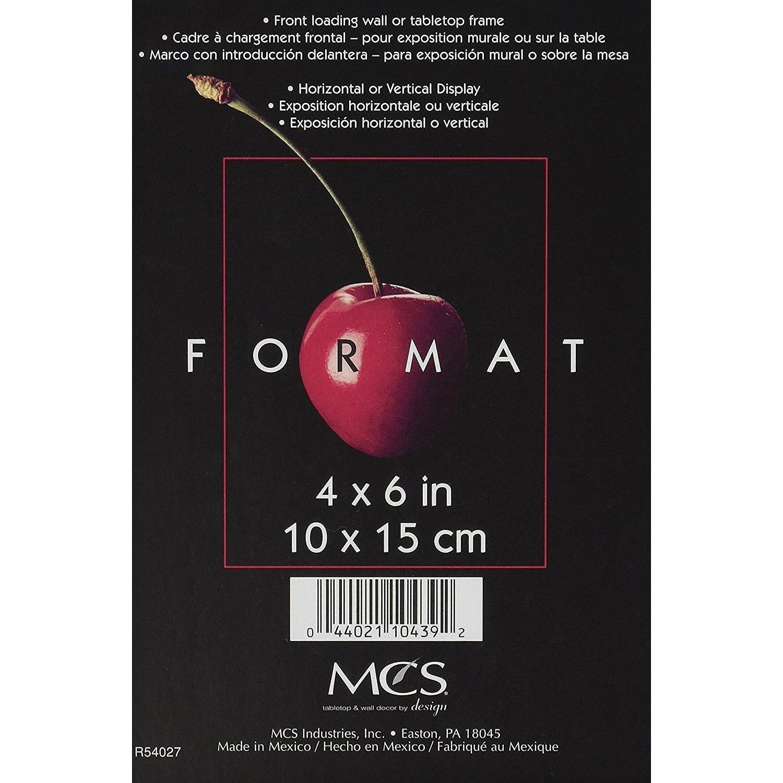 MCS Format Rahmen 4 x 6, schwarz: Amazon.de: Küche & Haushalt