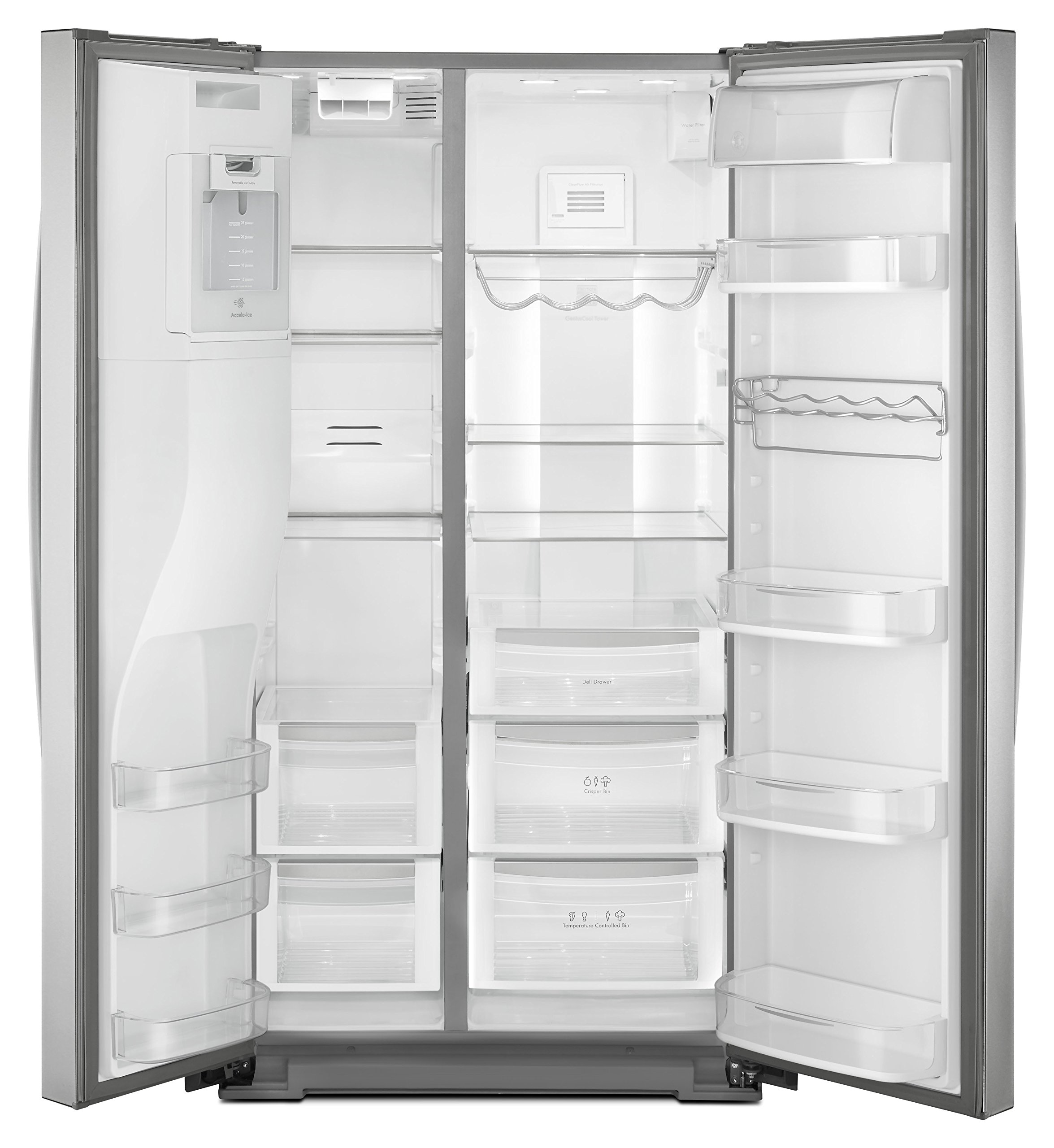Kenmore Elite 51773 28 cu. ft. Side-by-Side Refrigerator with Accela Ice Technology in Stainless Steel, includes delivery and hookup (Available in select cities only) by Kenmore (Image #5)