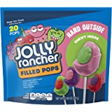 JOLLY RANCHER Filled Pops Lollipops, Assorted Flavors (Watermelon & Green Apple, Grape & Watermelon, Green Apple & Cherry, Cherry & Grape), 10.08 Ounce Bag
