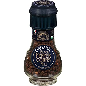 Drogheria & Alimentari Organic Black Peppercorns Mill, 1.59 oz (Pack of 6)