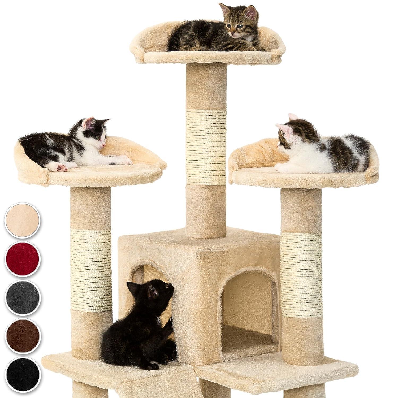 TecTake Rascador Árbol para gatos Sisal - gris -: Amazon.es: Juguetes y juegos
