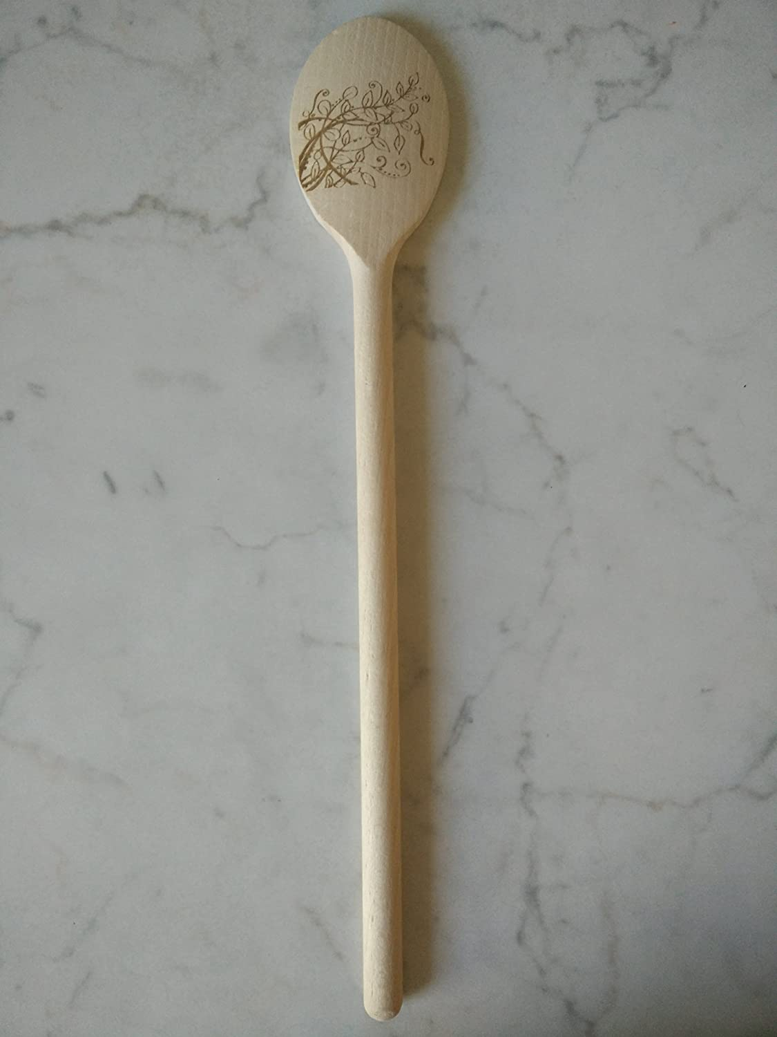 12 Inch Wooden Kitchen Spoons Baking Mixing Serving Craft Utensils