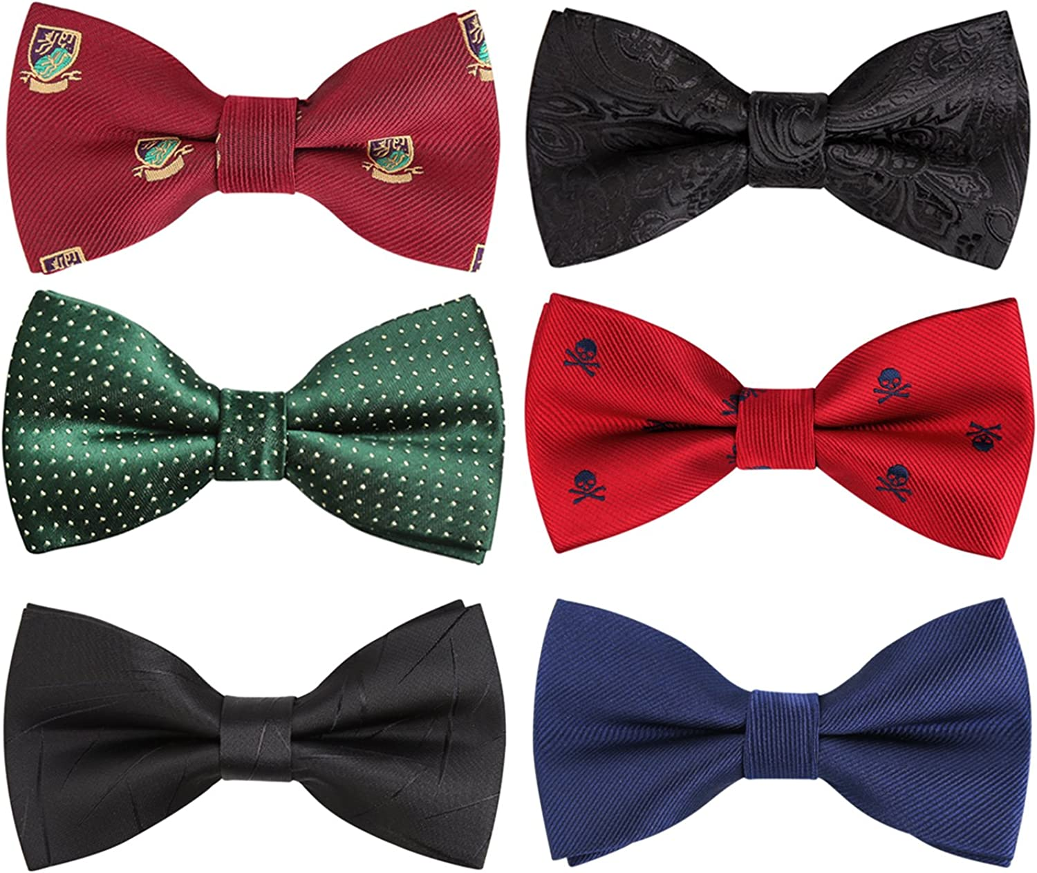 Red And White Checkered Pre-Tied Bow Tie Adjustable Bowties for Mens /& Boys