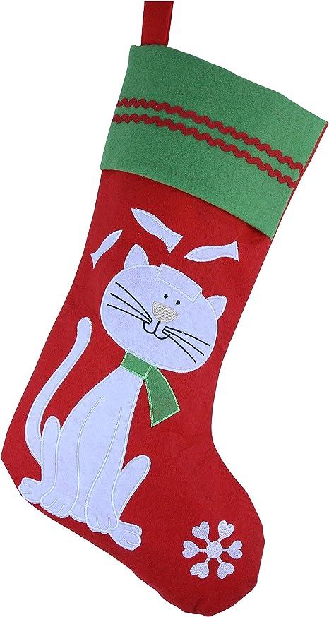Dog Stocking Personalized,Cat Stocking 2 Sizes. Paw print Stocking,custom name Christmas stocking for Pet Personalized Pet Stocking