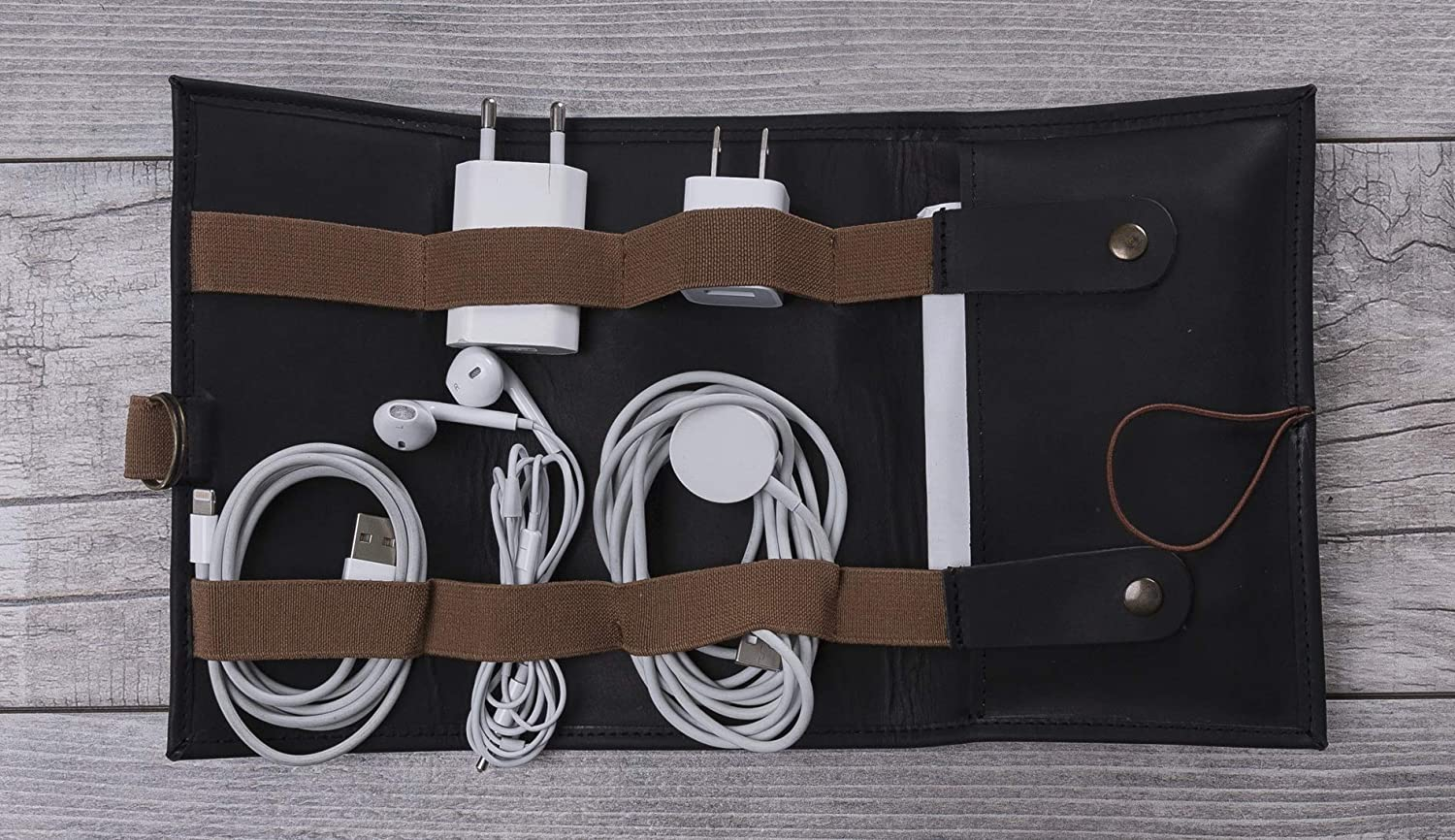 Cable Holder Leather Personalized Cable Organizer